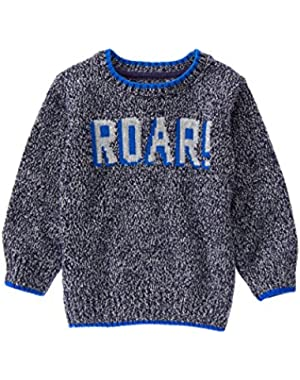 Baby Boy Grey Roar Sweater