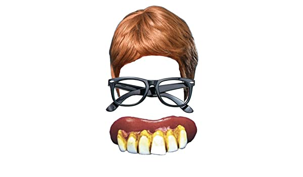 Amazon Austin Powers 3 Piece Fancy Dress Kit Wig Glasses