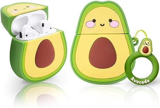 Amazon Com Case For Airpods Case 3d Cute Avocado Air Pods Case