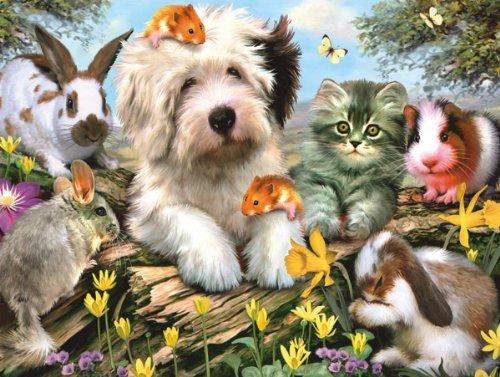 White Mountain Puzzles Furry Friends
