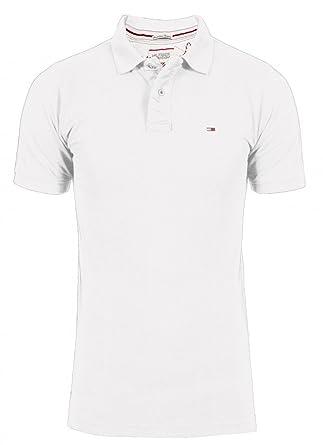 Tommy Hilfiger Denim Herren Poloshirt PILOT POLO, Farbe White Größe ... 02a80505ce