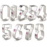Numbers Cookie Cutter Set - 9 piece - Ann Clark - Tin Plated Steel