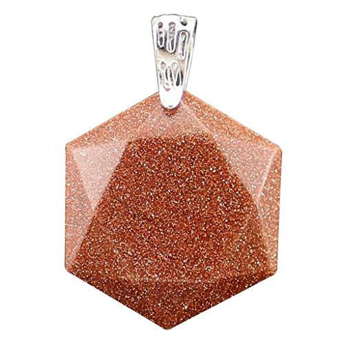 Exquisite Hexagram Shape Jewish Star of David Pendants Beads Stone DIY Craft Necklace Jewelry Crafting Key Chain Bracelet Pendants Accessories Best| Color - Dark Red