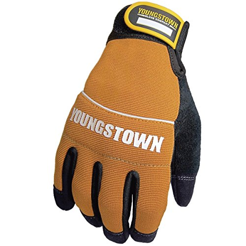(Youngstown Glove 06-3040-70-L Tradesman Plus Performance Glove Large, Brown)