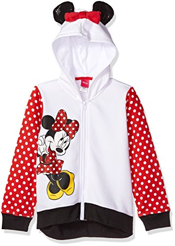 Disney Toddler Girls' Minnie Mouse Costume Hoodie, White/Red/Black, 3T