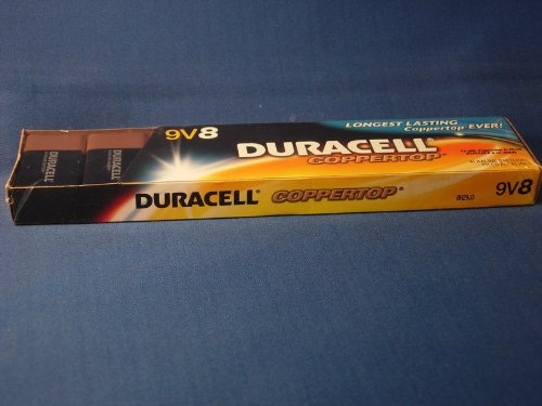 Duracell 9 Volt Alkaline Battery (8 per pack or 240 per case) by Duracell