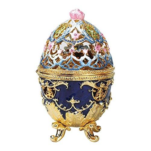 Enameled Treasure Box (Design Toscano Hummingbird Enameled Egg)