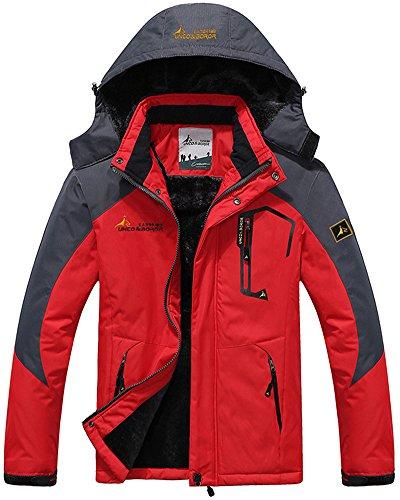 Outdoor Sci Uomo Mountain Jacket Mochoose Da Working Rain Con Campeggio Pesca Caccia Coat Cappuccio Windbreaker Rosso Sportwear Giacche Neve Vello Impermeabile 58gxnxH