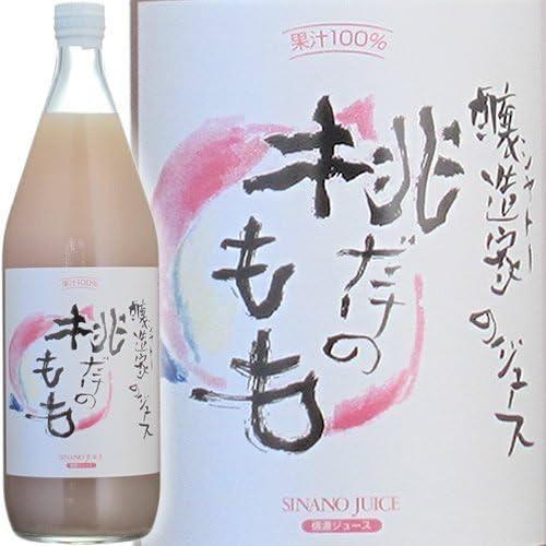 信濃ワイン 信州桔梗ヶ原 醸造家のジュース ぶどう畑直送 桃だけのもも(混濁) 1000ml [その他]