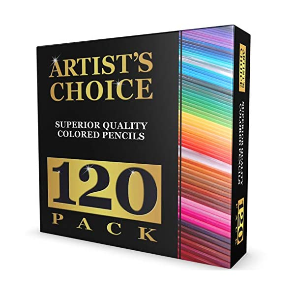 120-Colored-Pencils-GIANT-EXTRA-LARGE-SET-120-Unique-Colors-NO-DUPLICATES-Premium-Grade-Pre-Sharpened-Color-Coordinating-Barrels-Perfect-for-Kids-Art-School-Students-or-Professionals