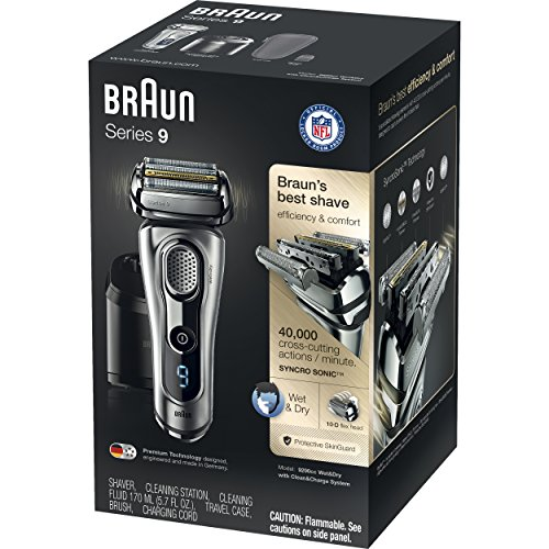 shaver braun series 9 9290cc wet dry electric shaver for men with clean charge system. Black Bedroom Furniture Sets. Home Design Ideas