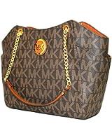 Michael Kors Jet Set Travel Large Chain Shoulder Tote Handbag