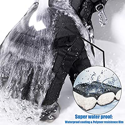 Waterproof Snow Gloves Windproof Ski Gloves, Winter Warm Snowboard Gloves Cold Weather Gloves Men & Women Large