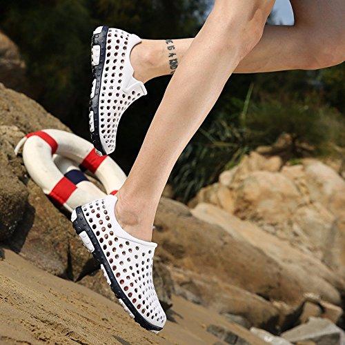 Das neue Sommer Männer Schuh Loch Schuh Mode Strand Schuh Große Größe Atmungsaktiv Sandalen Rom Freizeit Schuh Männer ,Weiß,US=10,UK=9.5,EU=44,CN=46