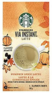 Starbucks Via Instant Pumpkin Spice Latte, 5 Count