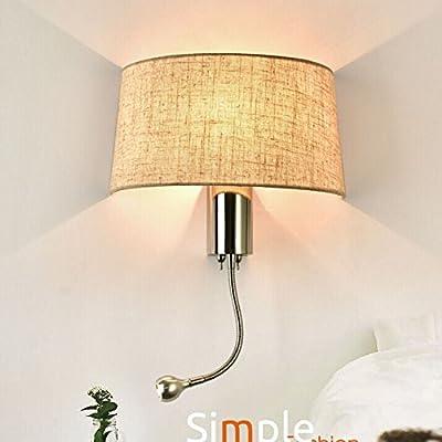 Haizhen Noir Blanc Mur De Chevet Lampes 1w Led Spot Flexible