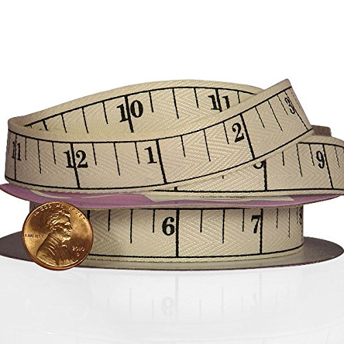 Printed Paper Ribbon - Tape Measure Printed Ribbon 5/8