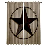 interesting french country patio decor ideas  Blackout Window Curtains for Kitchen, Texas Lone Star Country West 2 Panel Window Treatments/Drape for Kids Room/Living Room/Cafe/Bedroom, 104W x 63L inch