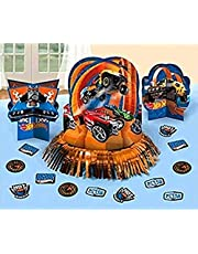 Fast Riding Hot Wheels Wild Racer Birthday Party Assorted Table Decorating Kit, Multi Colored, Paper, Assorted Sizes, 23-Piece
