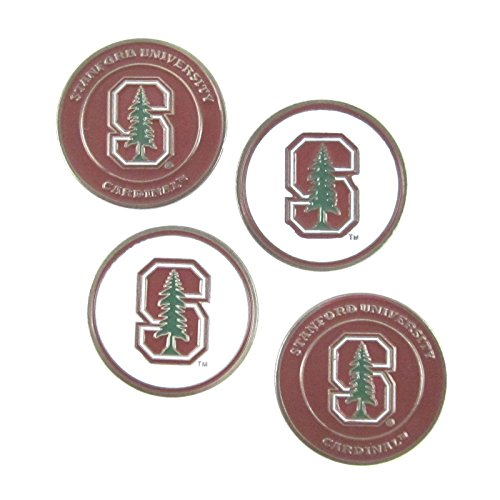 - Stanford Cardinal Double Sided Golf Ball Markers (Set of 4)