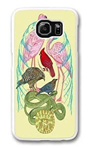 Wild Anatomy II PC Case Cover for Samsung S6 and Samsung Galaxy S6 White