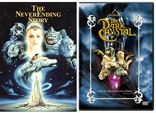 The NeverEnding Story & Dark Crystal DVD Set Classic Family Fantasy Movie Bundle 2 Film Feature