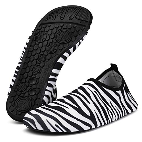 Men Zebra Women Water and stripe Shoes Barefoot Dry Socks for Shoes Quick Bridawn WXqPTq