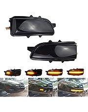 Sidospegel blinkersljus dynamisk blinkersljus för Volvo C30 C70 S40 V40 V50 V70 S60 S80