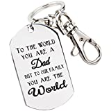 Fathers Day Gifts Mens Keychain Novelty Birthday Gift for Daddy Papa Stainless Steel