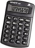 Genie 100P - Calculadora de bolsillo (práctica y compacta, pantalla de 8 dígitos, diseño clásico), color negro