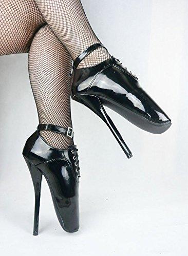 Wonderheel stiletto heel lack Kurzschaft ankle strap Schnürsenkel ballett stiefel