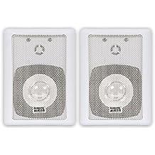 Acoustic Audio 151W Indoor/Outdoor Speakers (White, 2)