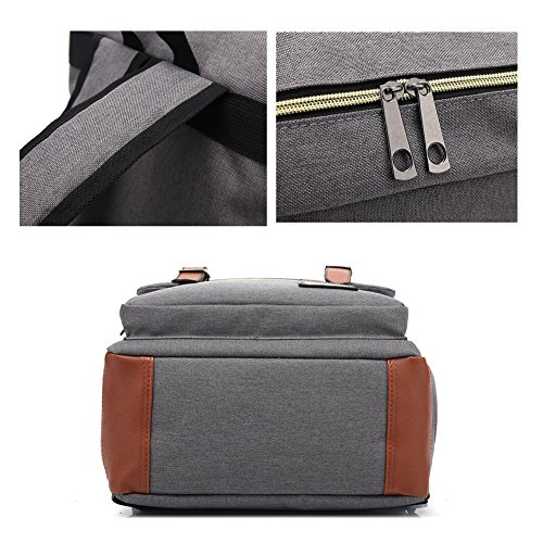 TOMATO-smile - Bolso mochila  de Lona para mujer beige Diseño 4 azul cobalto
