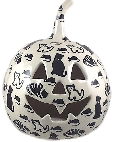 7-polish-pottery-stoneware-pumpkin-halloween-jack-o-lantern-kotc-cats-and-mice