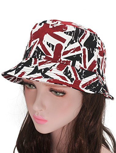 on Jack Flag Bucket Sun Hat Outdoor Fishing Hunting Boonie Cap (Boonie Hat All Weather Hat)
