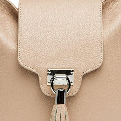 messager TL768 pour Grand longue sac à italien véritable en Sac Rose CASPAR main avec bandoulière CUIR femme H7qRwxAR