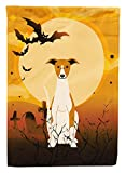 Caroline's Treasures BB4365CHF Halloween Whippet Canvas House Size Flag, Large, Multicolor