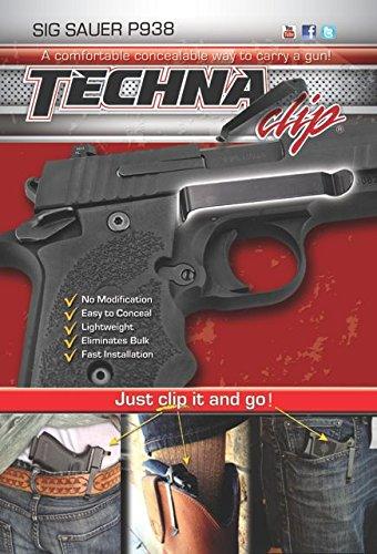 Techna Clip Sig Sauer P938 with Flat Grip Plates Belt Clip,