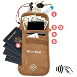 Florious Passport Holder for Neck - Passport Pouch With RFID, Eco-Friendly, Best For Men and Women To Travel, Shop, Go Out