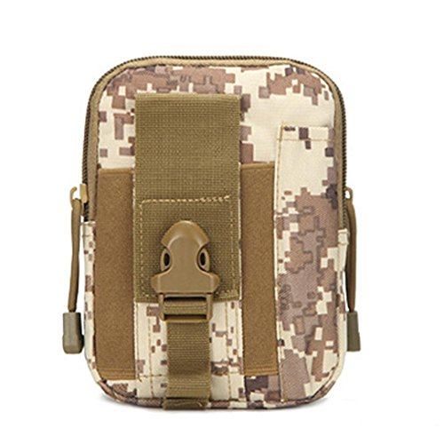 Climbing by Khaki Camping Pouch Phone Belt Hip Camouflage Bag Kolylong Purse Outdoor Waist Wallet Case C pqqUxd
