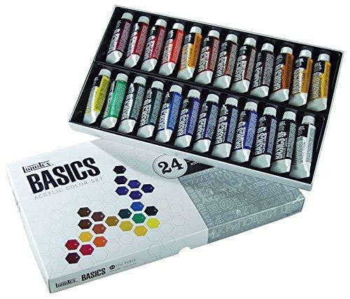 - Liquitex BASICS Acrylic Paint Tube 24-Piece Set