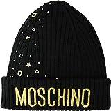 Moschino Kids Girl's Logo Hat w/Stud Embellishments (Little Kids/Big Kids) Black MD (8 Big Kids-10 Big Kids)