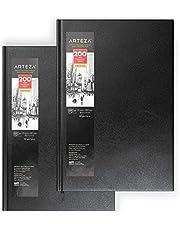 ARTEZA Blocs de dibujo de tapa dura | DIN A4 | Pack de 2 | 200 hojas x 2 | Papel de 130 gsm | Libros en blanco para escribir, para bocetos y diarios personales
