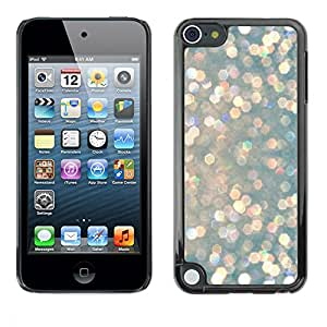 rígido protector delgado Shell Prima Delgada Casa Carcasa Funda Case Bandera Cover Armor para Apple iPod Touch 5 /Glitter Silver Pink Drops Shiny Glamorous/ STRONG