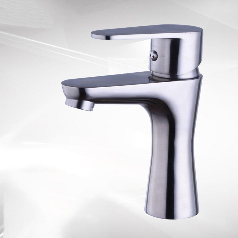 Hlluya Wasserhahn für Waschbecken Küche Die Die Die Edelstahl Heißes und Kaltes Wasser Waschbecken Waschtisch Armatur Waschtisch Armatur unter 44e141