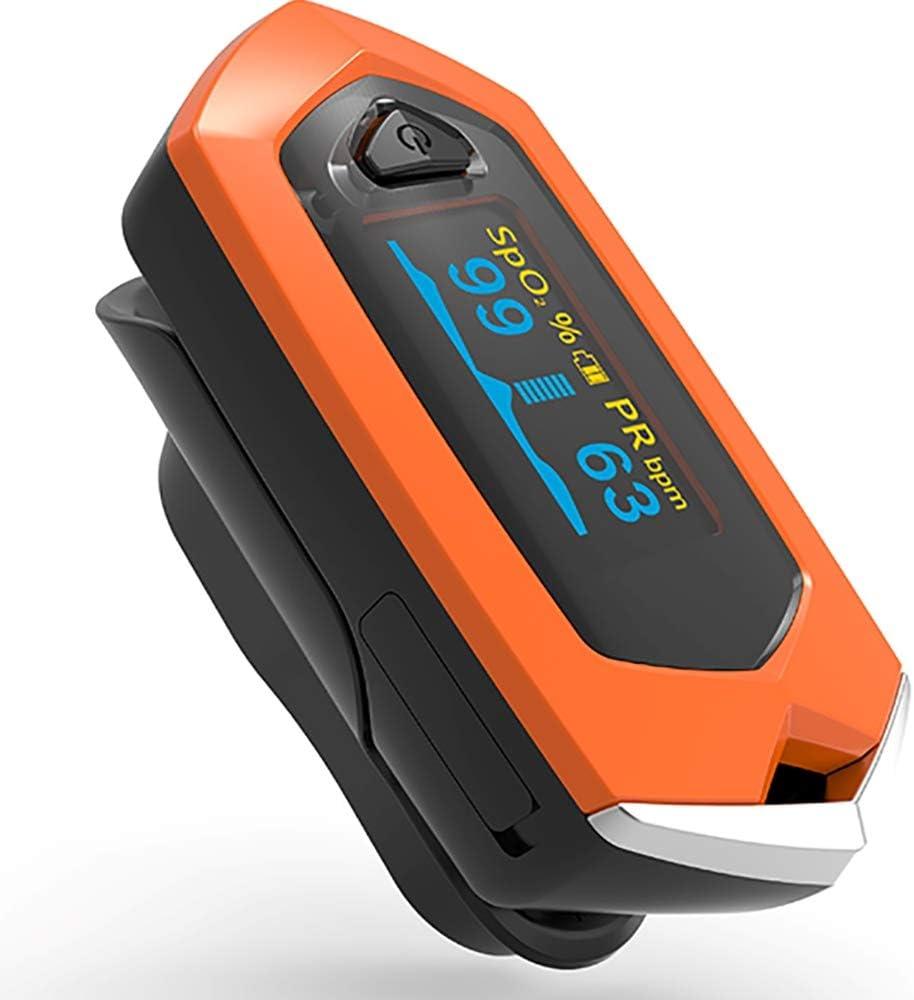 Pulso Oxímetro Médico Recargable Dedo OLED Sangre en sangre Monitor de Ritmo Cardíaco Oximetro De Dedo SpO2 Pulsioximetro
