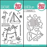 ShopForAllYou Stamping & Embossing (Stamp & Die Bundle)''Flamingo Bells'' Clear Stamps Only OR Clear Stamp