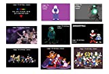 9 PERSONALIZED Undertale Stickers, Labels, Decals