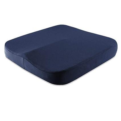 Mejorada Acolchado del asiento Cojin ortopédico para coxis de espuma de memoria Respirable Amortiguador del culo