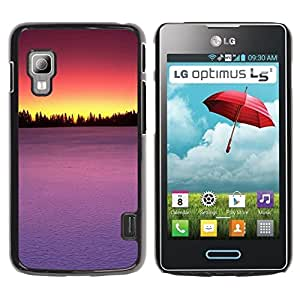 TopCaseStore / la caja del caucho duro de la cubierta de protección de la piel - Sunset Beautiful Nature 75 - LG Optimus L5 II Dual E455 E460